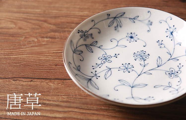 Made in Japan Zakka Style Home Tableware Dishes \u0026 Plates Ceramic Porcelain Under Glazed Plant Printed Round Dish Dessert Plate-in Dishes \u0026 Plates from Home ... & Made in Japan Zakka Style Home Tableware Dishes \u0026 Plates Ceramic ...