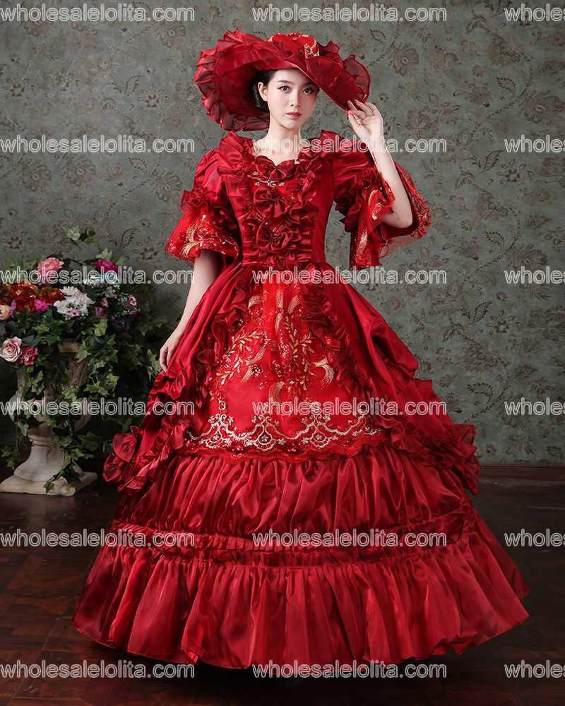 5c5b74afc15537 Rode Rococo Barok Marie Antoinette Baljurk Jurk 18e Eeuw Renaissance  Historische Periode Jurk in Rode Rococo Barok Marie Antoinette Baljurk Jurk  18e Eeuw ...