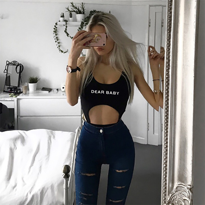 Liva Black Bodies Woman Sexy Bodysuit Women Jumpsuit Rompers Sleeveless Skinny Femme Body Mujer Hollow Bodysuits Femmale Overall