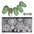 New Arrival Born Pretty Nail Art Stamping Template Rectangle Stylish Lace Snowflake Design Image Plate L008
