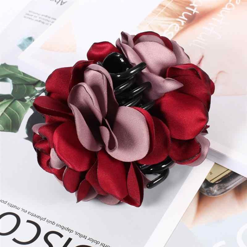 4 шт. Для женщин зажим для волос Роза Ленты большой волос челюсти зажим для волос когти заколка для вечерние ежедневно носить шопинг
