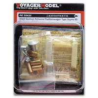 KNL HOBBY Voyager Model PE35420 Germany 80 ton railway heavy plate transport carrier card with metal etching parts