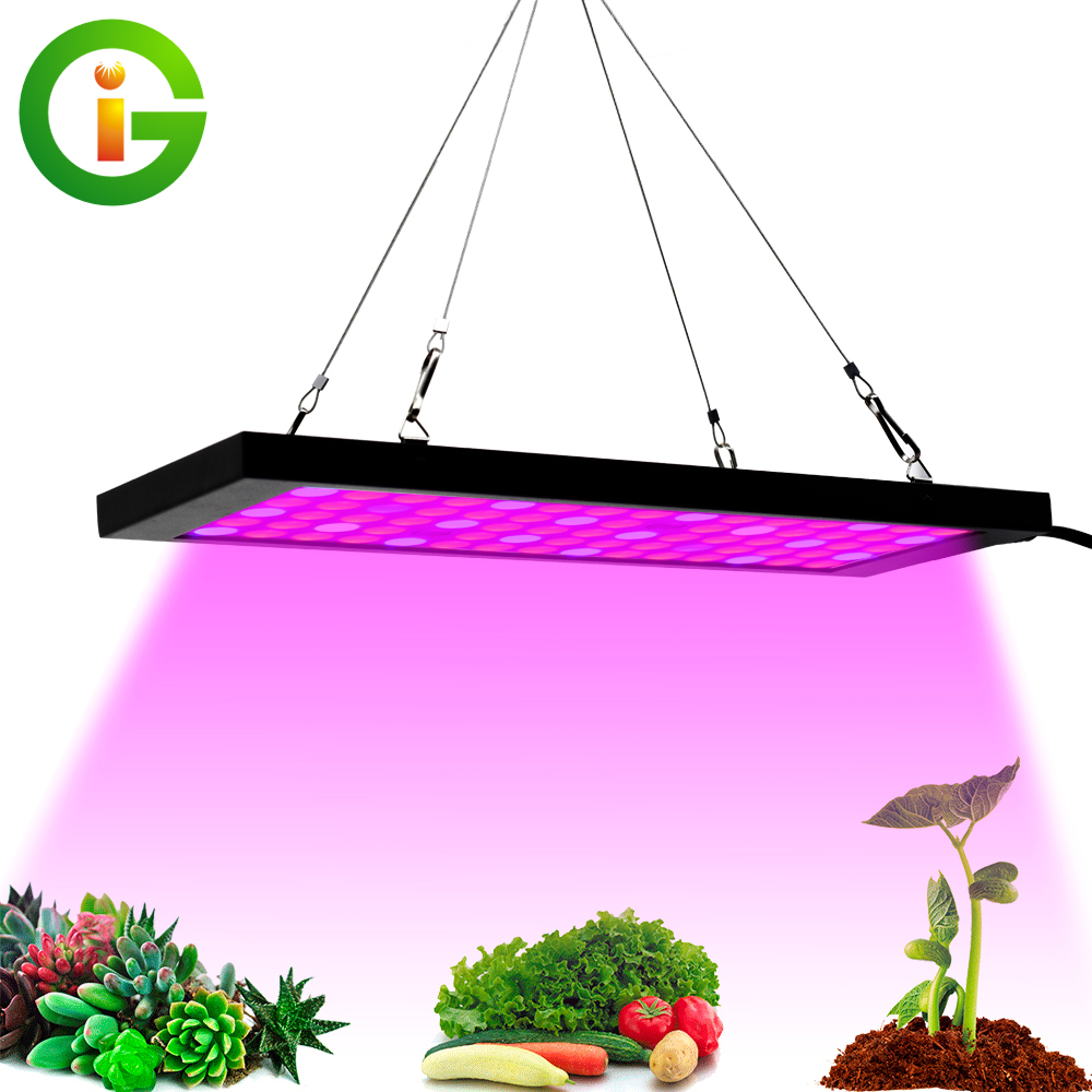 LED Grow Light Full Spectrum 40W Ultrathin Hanging Growing Lamps SMD 2835 Red+Blue+UV+IR For Indoor Plants Greenhouse Hydroponic
