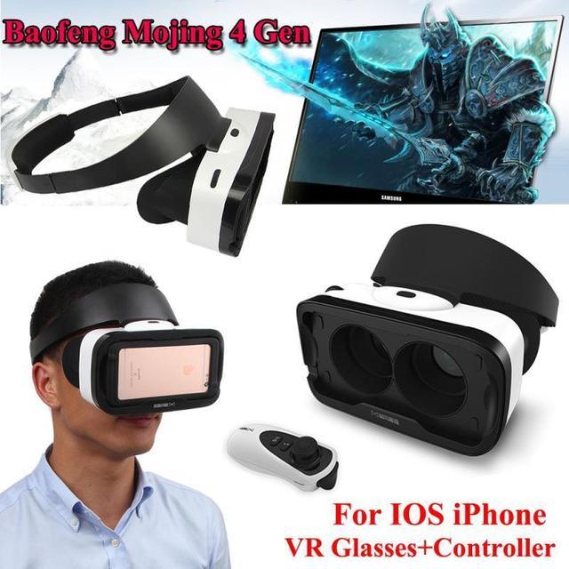Бесплатная доставка! Baofeng Mojing 4 IV Поколения 3D Виртуальной Реальности VR Очки Гарнитура Коробка для IOS