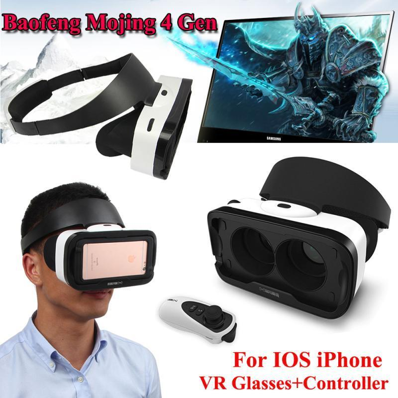 Free shipping!Baofeng Mojing 4 IV <font><b>Gen</b></font> 3D <font><b>Virtual</b></font> <font><b>Reality</b></font> <font><b>VR</b></font> Glasses <font><b>Headset</b></font> <font><b>Box</b></font> for IOS