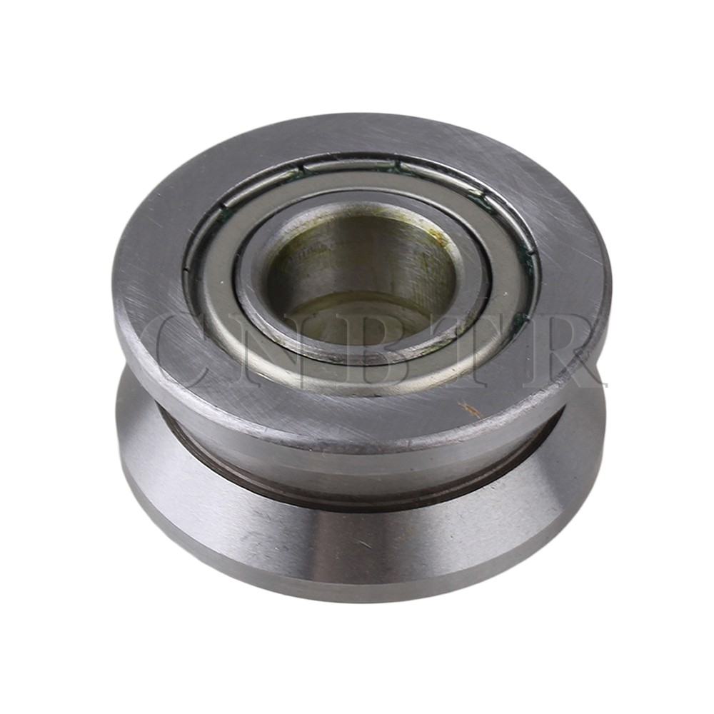 CNBTR Silver 15x40x18mm Steel Groove Ball Bearing Roller Guide 1 piece bu3328 6 6 33 27 5 29 5 mm z25 guide rail u groove plastic roller embedded dual bearing