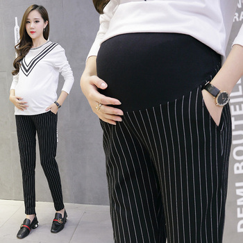 Cotton Belly Maternity Pants Elastic Waist Pencil Trousers Clothes for Pregnant Women Pregnancy Pants autumn fashion maternity legging low waist belly stretch cotton skinny pants clothes for pregnant women pregnancy wear