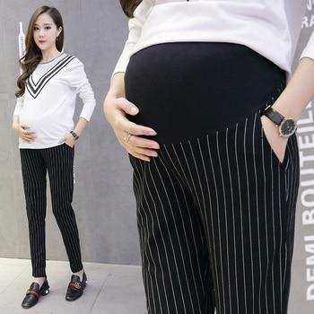 Cotton Belly Maternity Pants Elastic Waist Pencil Trousers Clothes for Pregnant Women Pregnancy Pants цена 2017
