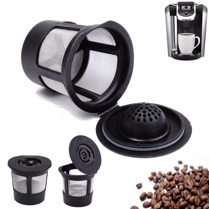 New Arrival Reusable Single Cup For Solo Filter For Pod K-Cup Coffee Stainless Mesh Black Coffee Pod Filters