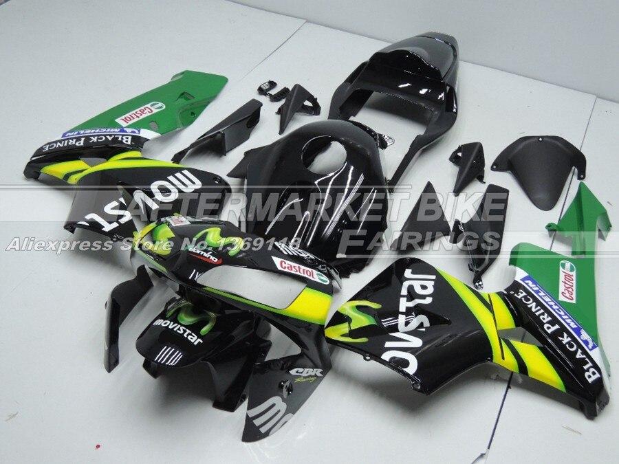 Для Honda Black MOVISTAR CBR600RR 03 04 подходит гарантия мотоциклов Обтекатели комплект 2003 2004