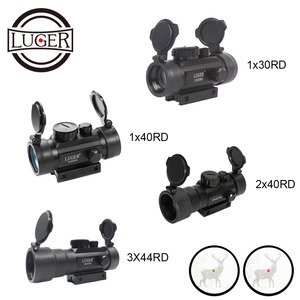 LUGER 1X30 Red Green Dot Scope 1X40 Tactical Optics Sight Riflescope 3X44 Holographic Rifle Scope Air Gun Hunting Scopes