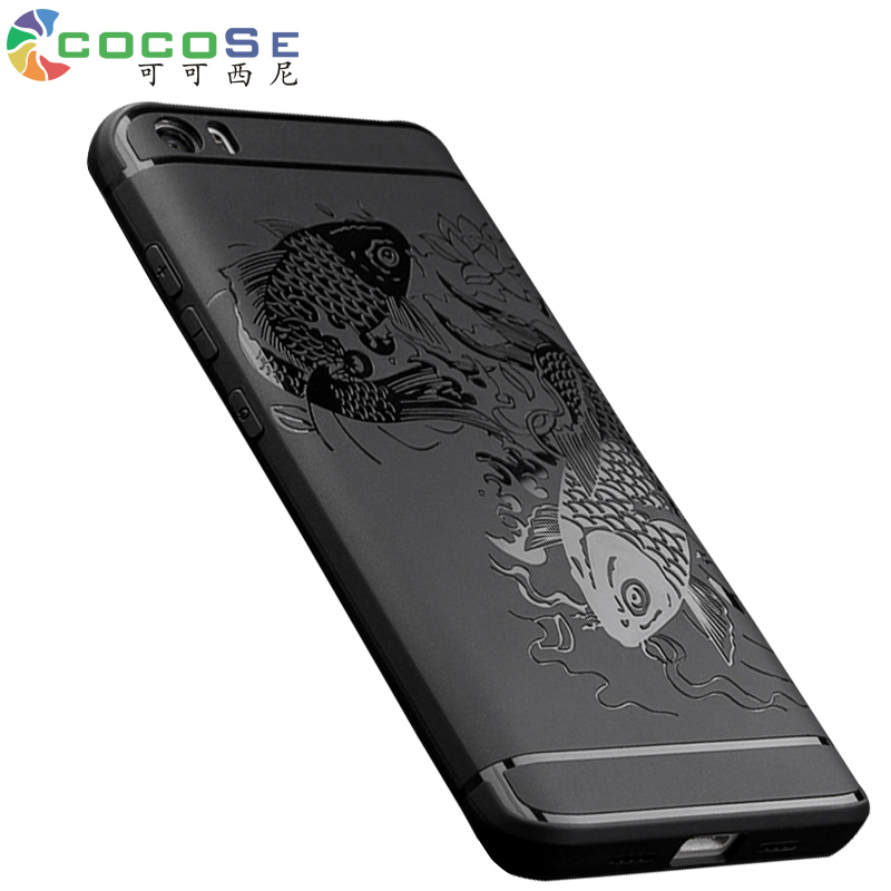 Original COCOSE Mi5 Case Silicon Back Cover for Xiaomi Mi5 Mi 5 M5 Luxury Matte 3D Carved Soft Anti-knock Coque for Xiomi Mi Max