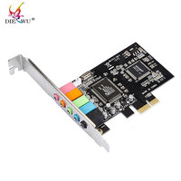 New 32 Bit PCI Express X1 PCI E 5 1ch 6channels 3D 96KHz Audio Digital Sound