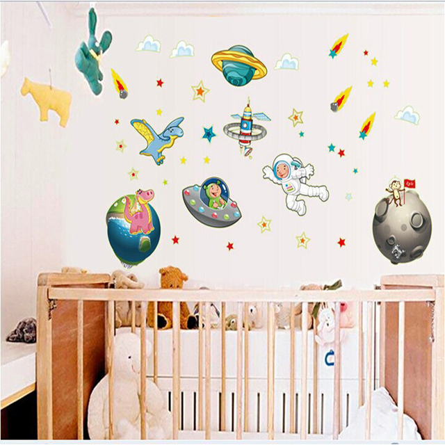 Superb Space Wall Stickers For Kids Design Images