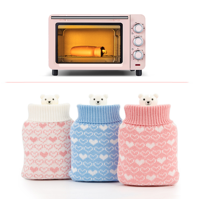 Hand Warmer Hot Water Bag Warm Bottle Microwave Silicon Termofor Gumowy Kids Foot Neck Outdoor Heating Freezer Colding LX-02