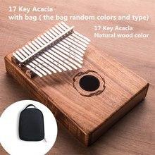 17 Key Kalimba African solid Mahogany Thumb Finger Piano Sanza keys Solid Wood Mbira