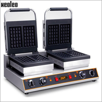 XEOLEO Double plates Electric waffle maker 220V/3200W Electric Sandwich Machine Commercial waffle maker Stainless steel Material