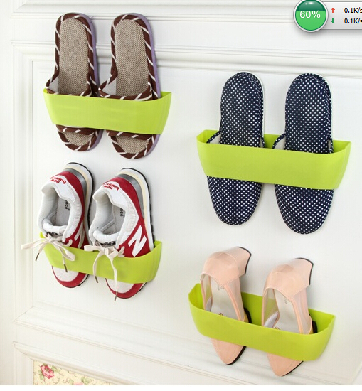 Hanging Wall Plastic Shoe Rack storage door vertical wall ...