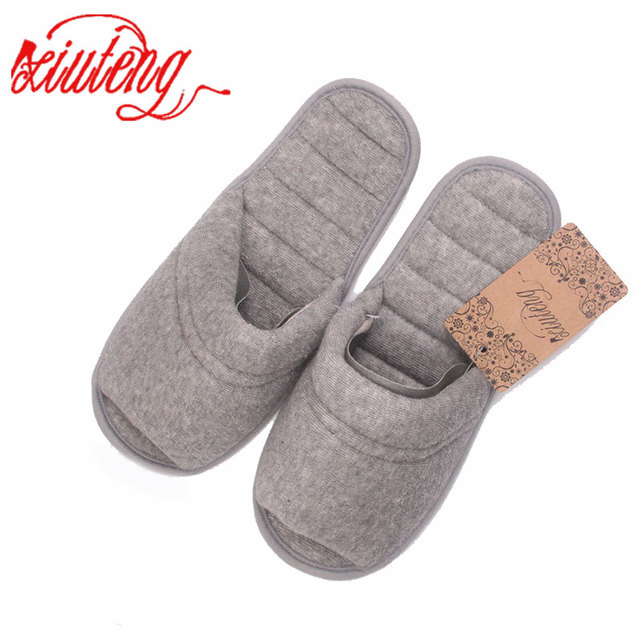 Xiuteng Spring Towels Cotton Indoor Slippers Women Home Slippers Line Pressing Soft Bottom Summer Slippers Fashion House Shoes