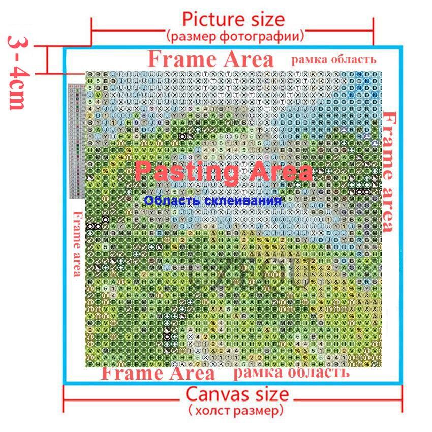 UzeQu 5D DIY Алмаз кескіндеме Кескіш - Өнер, қолөнер және тігін - фото 6