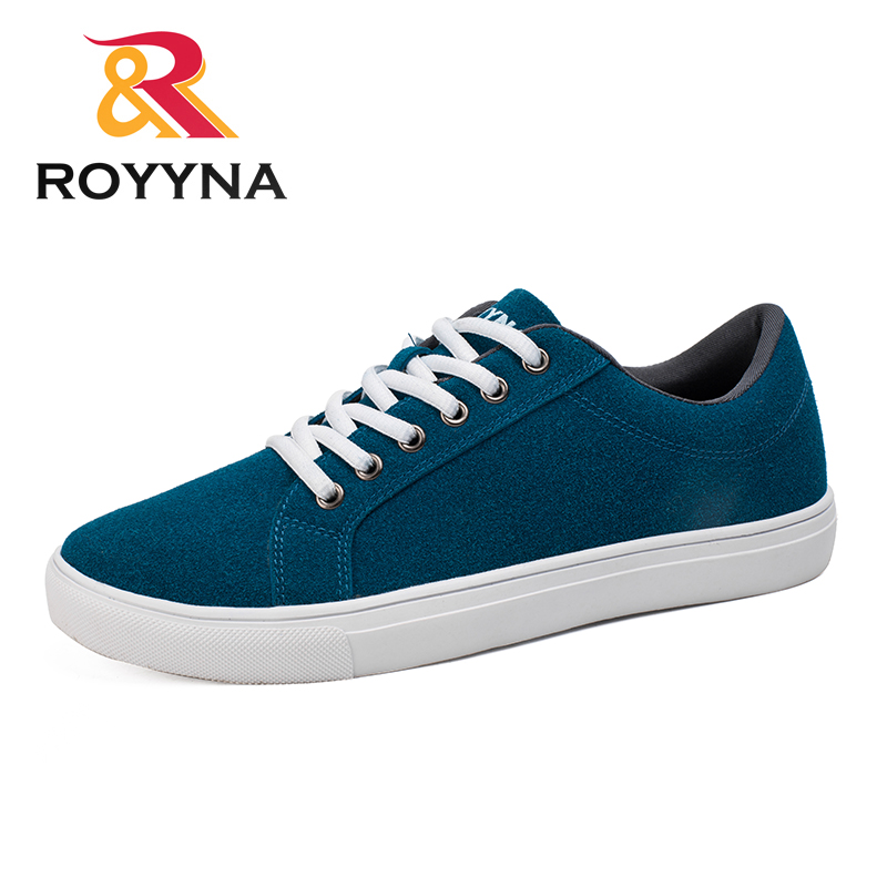 ROYYNA New Popular Style Men Casual Shoes Lace Up Men Flats Shoes Microfiber Comfortable Hombres Zapatos