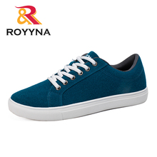 Мужские повседневные туфли ROYYNA, популярные Стильные туфли на плоской подошве со шнуровкой, удобные слипоны из микрофибры, Hombres Zapatos, бесплатная доставка