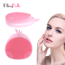 BlingBelle Silicone Face Cleaning Mini Electric Massage Brush For Washing Skin Scrubber Soft Facial Cleansing