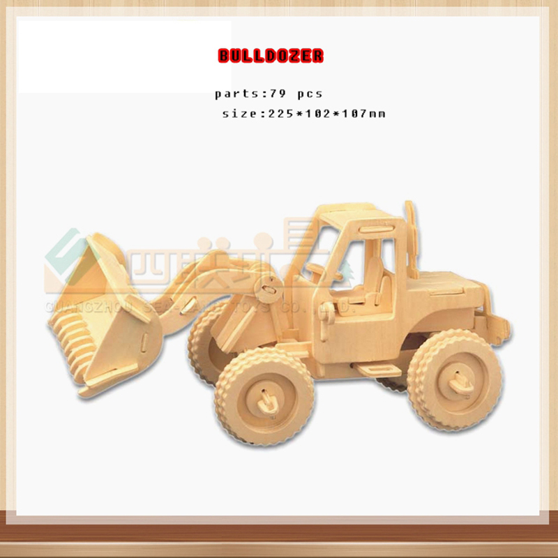 3D Деревянный бульдозер Пазл деревянный пазл игрушки развивающие деревянные игрушки DIY ручной головоломки инженерных автомобиля серии