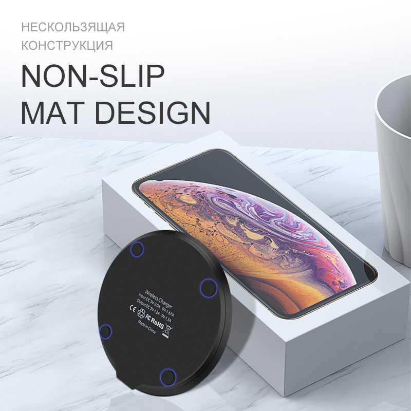 IONCT 15W szybka ładowarka bezprzewodowa dla iPhone X XS 11pro widoczne USB podstawka ładująca qi dla Samsung S8 S9 uwaga 9 telefon bezprzewodowa