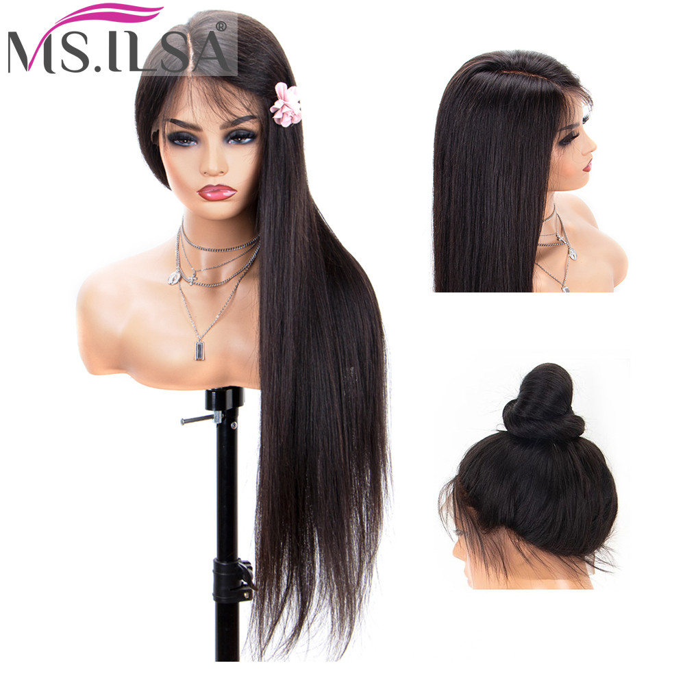 Straight Lace Front Human Hair Wigs For Black Women 360 Lace Frontal Wigs Pre Plucked Brazilian Remy Hair 4x4 Lace Closure Wigs