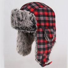 Hot Sale Russian Hat Ushanka Fur Mens Winter Hats Ear Flaps Sports Snow Outdoor Cap Winter Bomber Hats For Men Women AHT202(China)