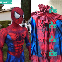 Free Shipping DHL The Best And Coolest 3D Shade Ultimate Spiderman Costume Full Body Spandex Lycra