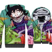 Dragon Ball Z Mens 3D Hoodies 2019 Hot Sale Winter Warm Jackets Harajuku Loose Fit Coat Casual Outwear Plus Size Men Hooded
