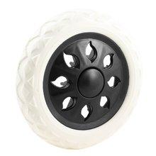 Черный белый пластиковый сердечник пены хозяйственная тележка колесиковые ролики