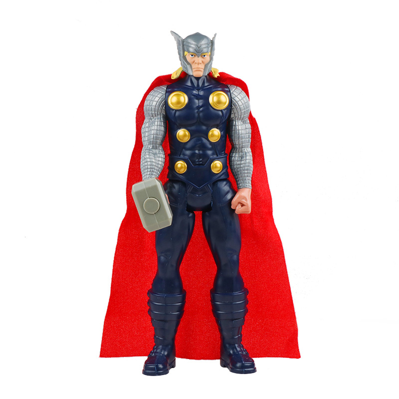 30 см Marvel Мстители игрушки танос Халк Бастер человек паук Железный человек Капитан Америка Тор Росомаха Черная пантера фигурка куклы - Цвет: thor no box