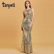 Женское вечернее платье Русалка tanpel длинное без рукавов с