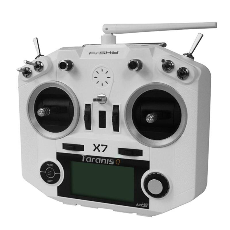 Livraison gratuite FrSky ACCST Taranis Q X7 2.4G 16CH Mode 2 télécommande émetteur blanc noir Version internationale - 3