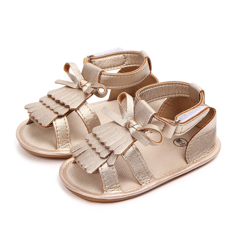 Summer Baby Girl Shoes Soft Sole Anti-slip Tassel Crib Shoes First Walkers Walking Shoes
