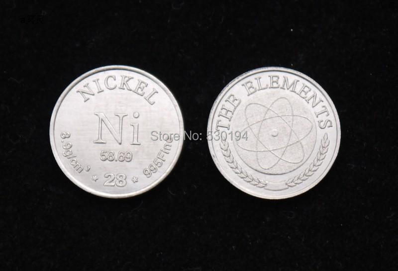 99.5% High Purity NICKEL Ni Metal Carved Element Periodic Table Coin Shape whitesnake live in the still of the night