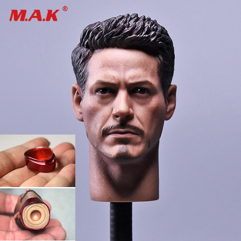 1//4 Scale damaged Tony Stark Head Sculpt for MK43  MK45 Hot Toys T800