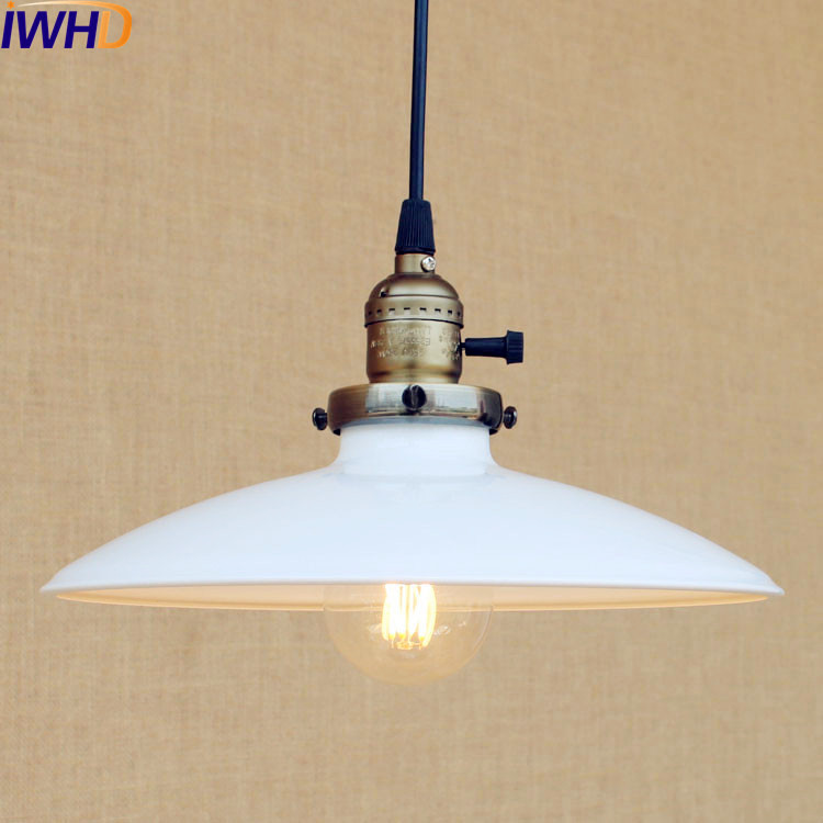 25CM White Vintage LED Pendant Lights Fixtures Dinning Room Industrial Home Lighting Hanging Lamp Edison Suspension Luminaire iwhd loft style creative retro wheels droplight edison industrial vintage pendant light fixtures iron led hanging lamp lighting