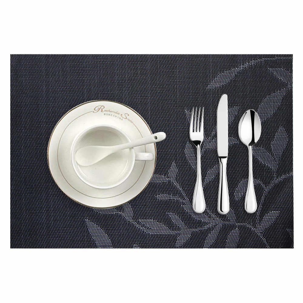 Placemats Pvc ตารางอาหารเด็ก Vintage Dining ตารางแผ่น Pads Coasters Napperon แผ่นบาร์ Tapete De Lugar 45*30 ซม.#15