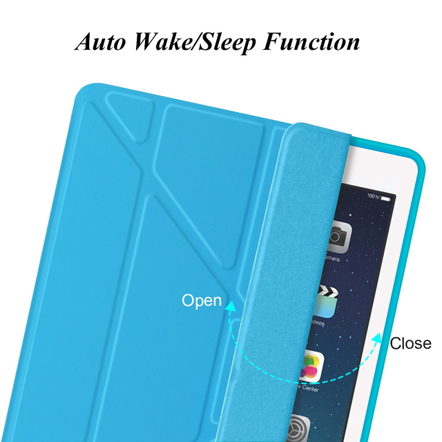 For iPad Mini 4 Case Silicone TPU Soft Back Smart Cover [Multiple Stand] PU Leather Protective Shell For Apple iPad Mini 4 3