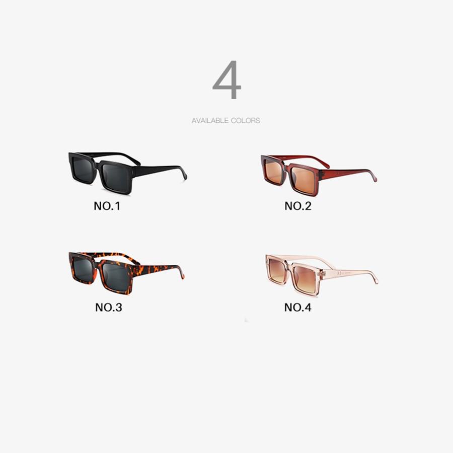 AEVOGUE Sunglasses Women Rectangle Frame Transparent Brand Designer Retro Sun Glasses Unisex Square Brown UV400 AE0664 3