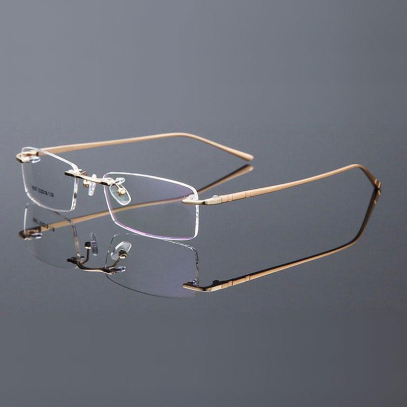 Reven Jate Randlose Brillen Legierung Metallrahmen Brillen Optische - Bekleidungszubehör - Foto 6