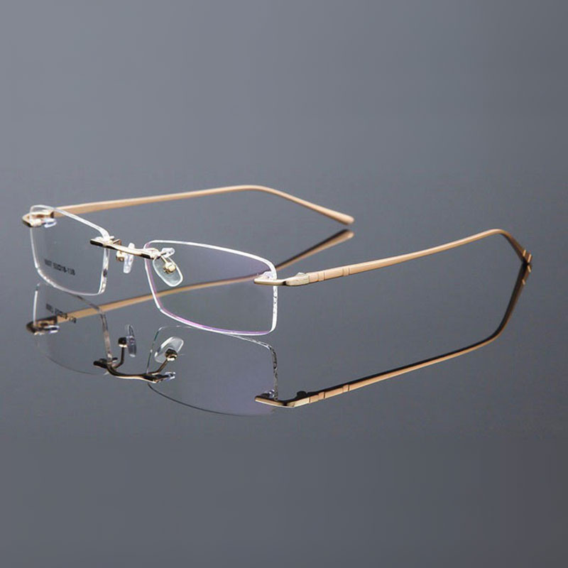 Eyeglass Frame Paint Repair : ?Rimless Eyeglasses Alloy Metal ? Frame Frame Eye Glasses ...