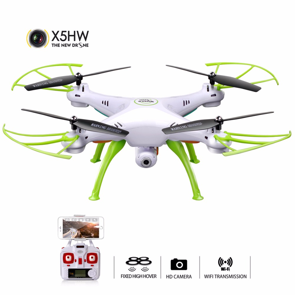 SYMA RC Quadrocopter With Camera FPV WIFI Real Time Remote Control Aircraft Quadcopter Drones Helicopter Dron Hover X5HW syma x8w fpv rc quadcopter drone with wifi camera 2 4g 6axis dron syma x8c 2mp camera rtf rc helicopter with 2 battery vs x101