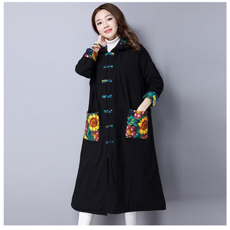ФОТО 2016 Autumn Winter Maternity Coat Korean Fashion Pregnant Women Cotton Trench Outerwear Long Coats Jacket for Pregnancy E663