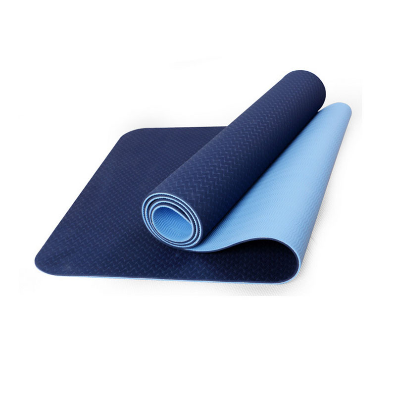 Yoga mat TPE fitness tapete Thick Non-slip Gym fitness body building esterilla Pilates gymnastics Exercise yoga mats 183*61*6mm iunio yoga mats 15mm fitness mat for body building exercise pilates home gym training folding eva pad outdoor camping yoga mat
