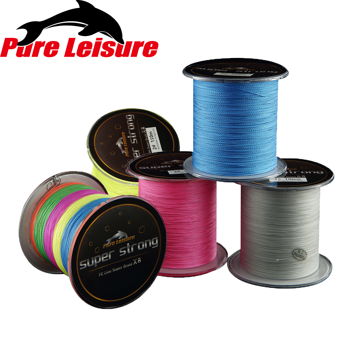 PureLeisure 150 m Braided Fishing Line Tresse De Peche 8 Brins 150 m Japan Material Linha Fishing Carp 150m for Sea Fishing